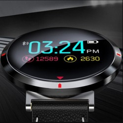 Jyou Smart Watch Bracelet Fitness Tracker Leather Wristband